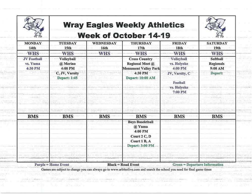 Eagle events for week of Oct. 14-19