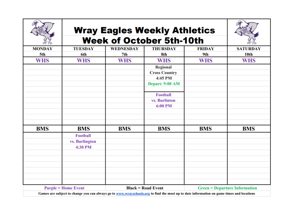 Week on Oct 5-9