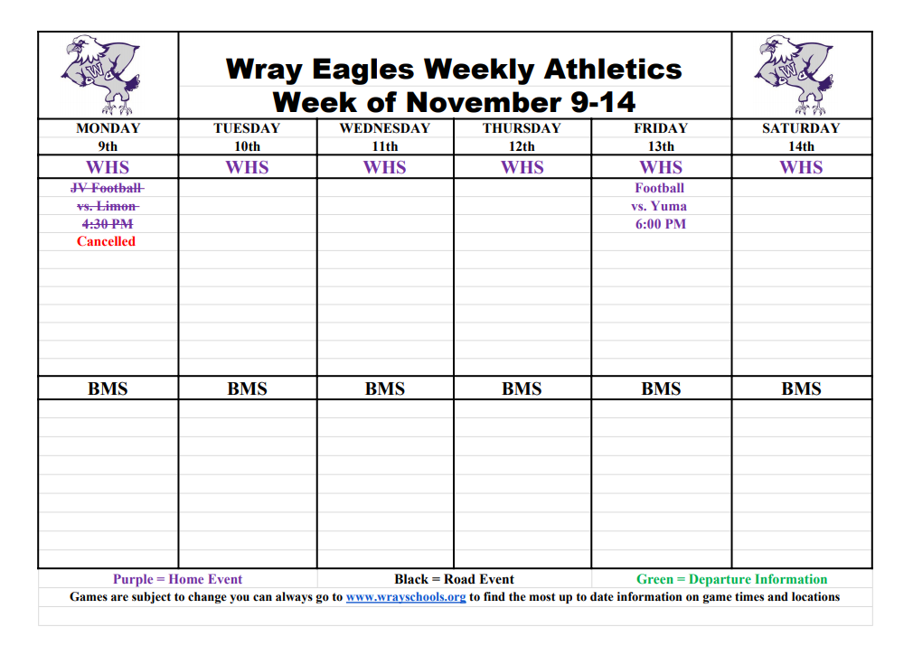 Week of Nov 9-13
