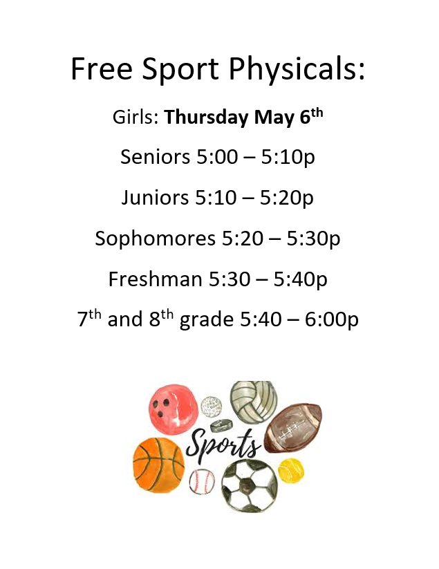 Sports Physicals  2021