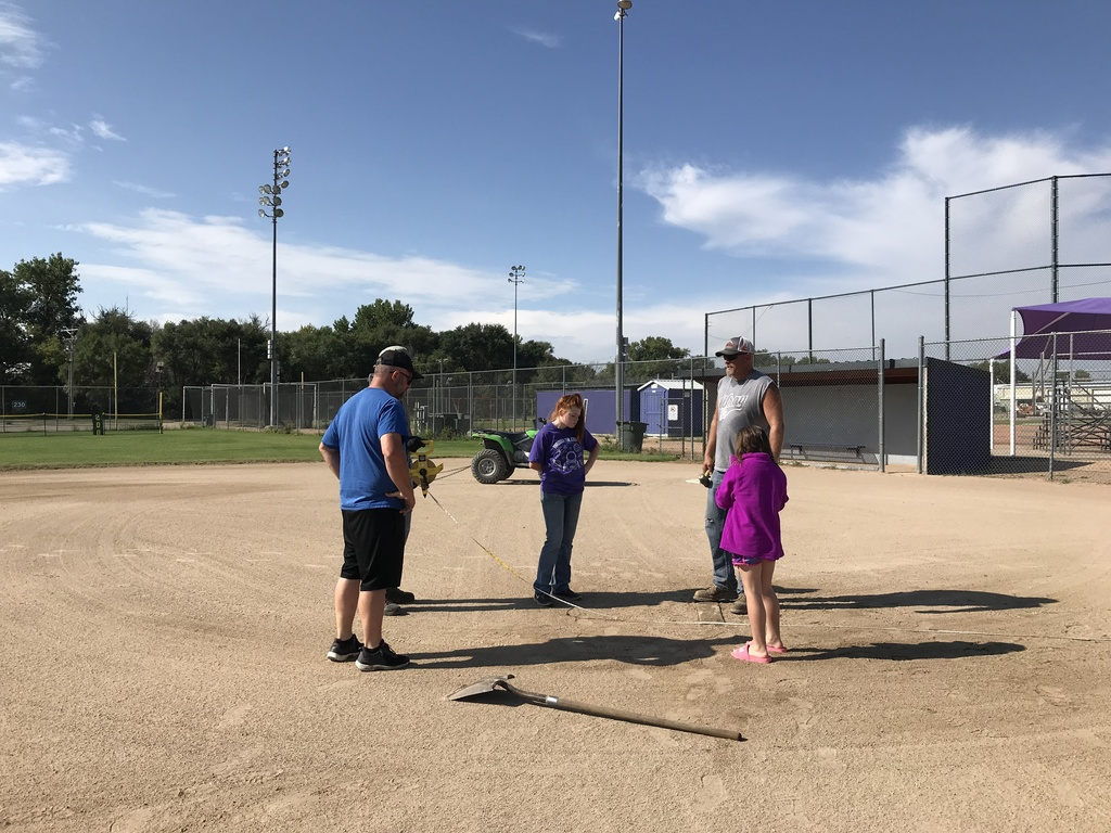Measuring softball field