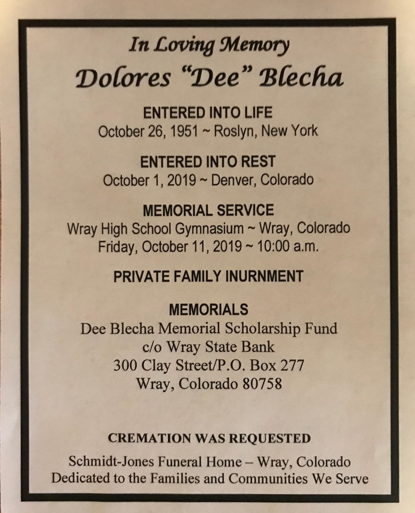 Funeral Services for Dee Blecha