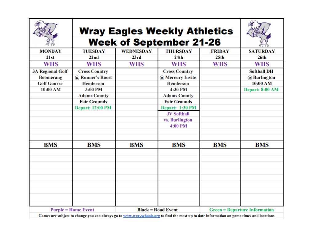 Week of  Sep 21-25