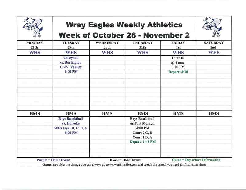 Eagles events week of Oct. 28-Nov. 2