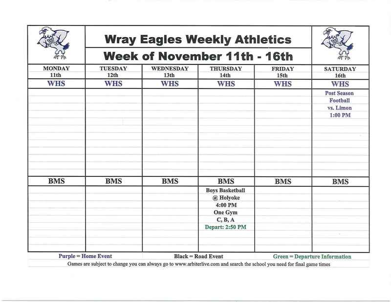 Activities for week of Nov. 11-16